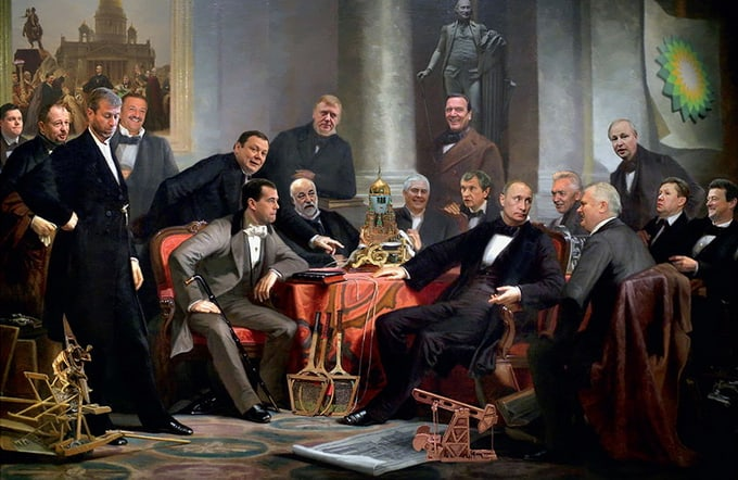 Putin in the Political Satire series of Andrei Budaev -ukraine, russia, politics, politicians, obama, Barack Obama