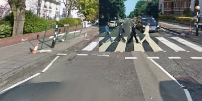 Classic Album Covers in Google Street View