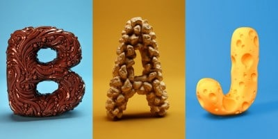 Playful collection of 3D Sculpted Alphabet by FOREAL