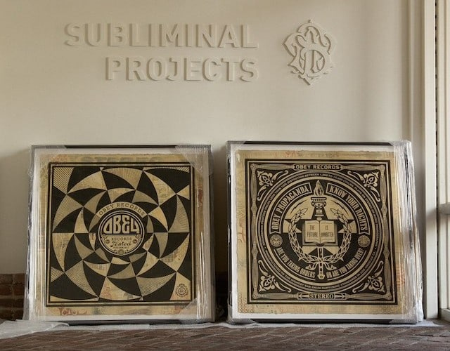 Shepard Fairey / OBEY - 50 Shades Of Black at Subliminal Projects