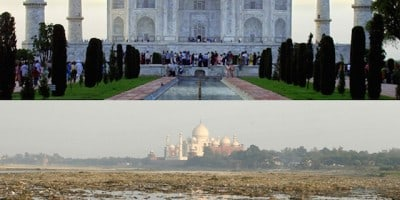 Famous Landmarks zoomed out to tell the larger Picture