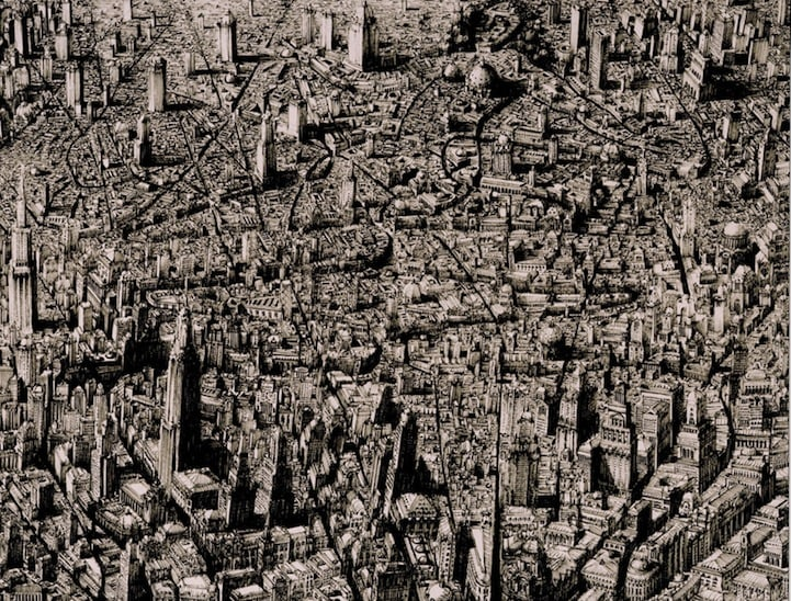 BenSack13 - Intracite Cityscapes Emerge from Pen Illustrations by Benjamin Stack