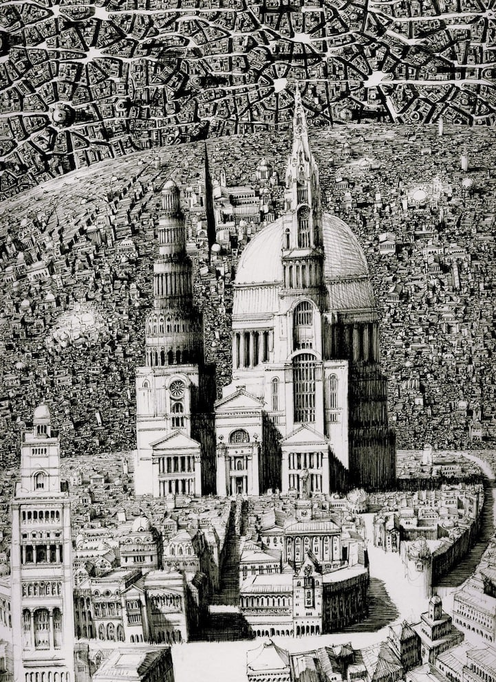 BenSack14 - Intracite Cityscapes Emerge from Pen Illustrations by Benjamin Stack