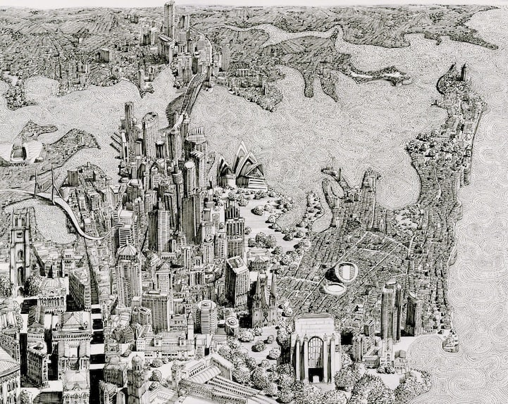 BenSack15 - Intracite Cityscapes Emerge from Pen Illustrations by Benjamin Stack
