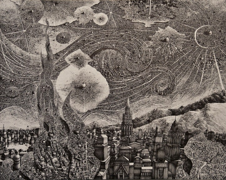 BenSack5 - Intracite Cityscapes Emerge from Pen Illustrations by Benjamin Stack