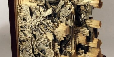 Brilliant Book Sculptures by Brian Dettmer