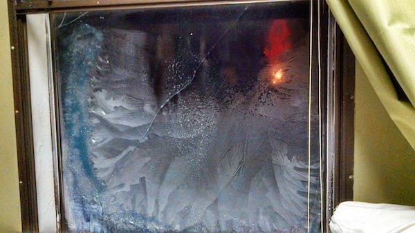 This window literally cracked under pressure. The 30 Most Amazing Photos Of Frozen Things In Honor Of The Coldest Morning Of The 21st Century - The 30 Most Amazing Photos Of Frozen Things In Honor Of The Coldest Morning Of The 21st Century