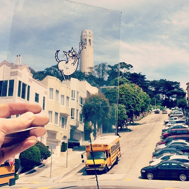 Doodles on Transparency Sheets Come to Real World -Instagram, funny, doodle