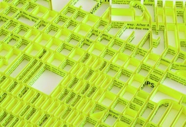 Paper Sculptures of City Maps by Matthew Picton