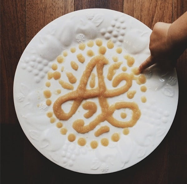 """""""AtoZoë"""" - Dad Teaches Daughter The Alphabet By Shaping Letters Out Of Yummy Food -typography"""