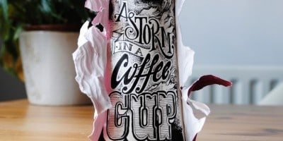 """Coffee Time"" – Typographic Art On Discarded Coffee Cups by Rob Draper"