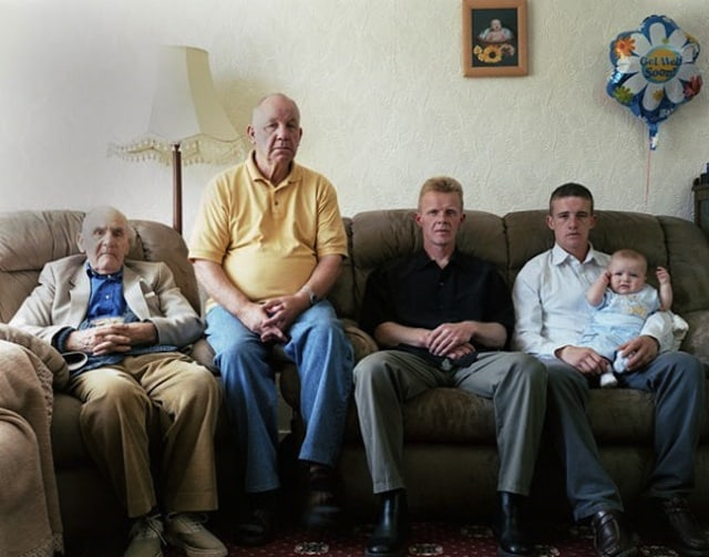 """Generations"" - Families with 5 Generations in 1 Photo by Julian Germain -"