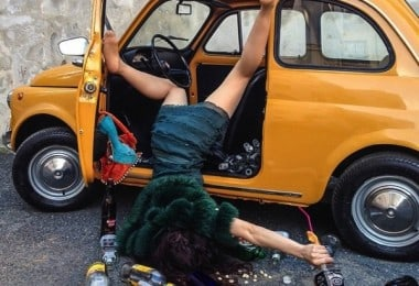 Hilariously Photos of People Posed as If They Have Just Fallen by Sandro Giordano