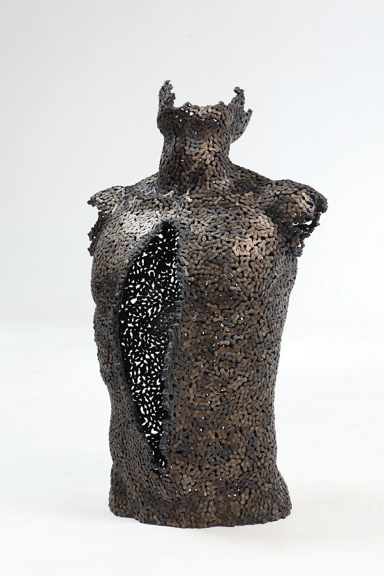 Look at These Sculptures Made Entirely from Bicycle Chains -sculptures, korea