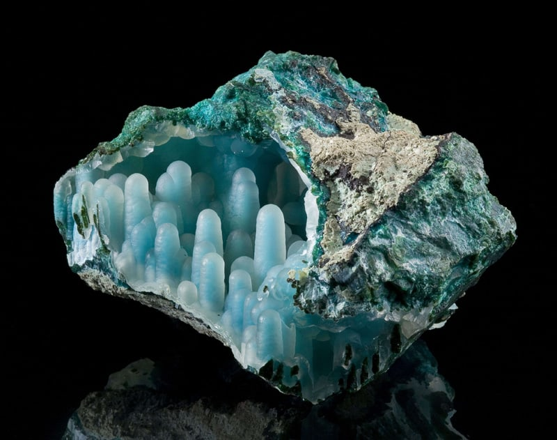chalcedony-on-chrysocolla-in-malachite-diglet-super-mario-mineral-4