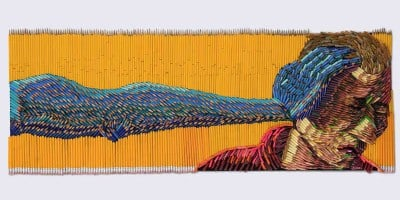 Stunning Sculptures Made Out Of Colored Pencils