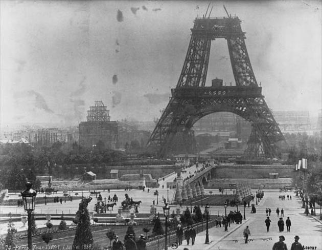 Eiffel Tower Being Built