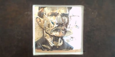 Optical Illusion Portrait of Ferdinand Cheval made of Household Objects and Furniture