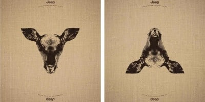 Stunning Jeep Adverts That Reveal Hidden Animals When Images Flipped Upside Down