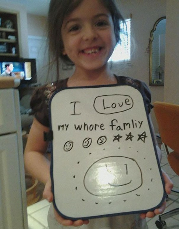 Children's Hilariously Inappropriate Spelling Mistakes -kids