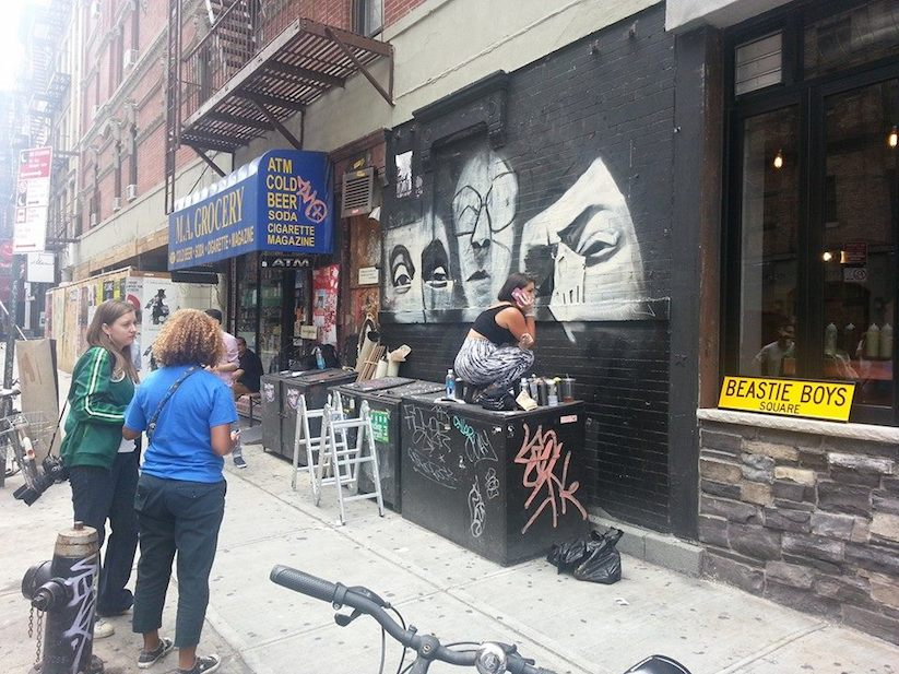 Beastie boys paul s boutique mural in nyc by danielle for Beastie boys mural