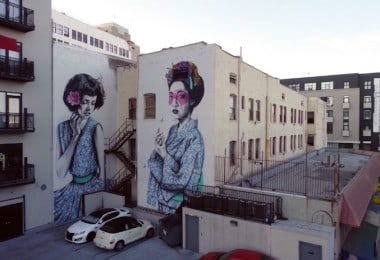 Downtown Los Angeles – L.A. Architecture and Streetart from Above