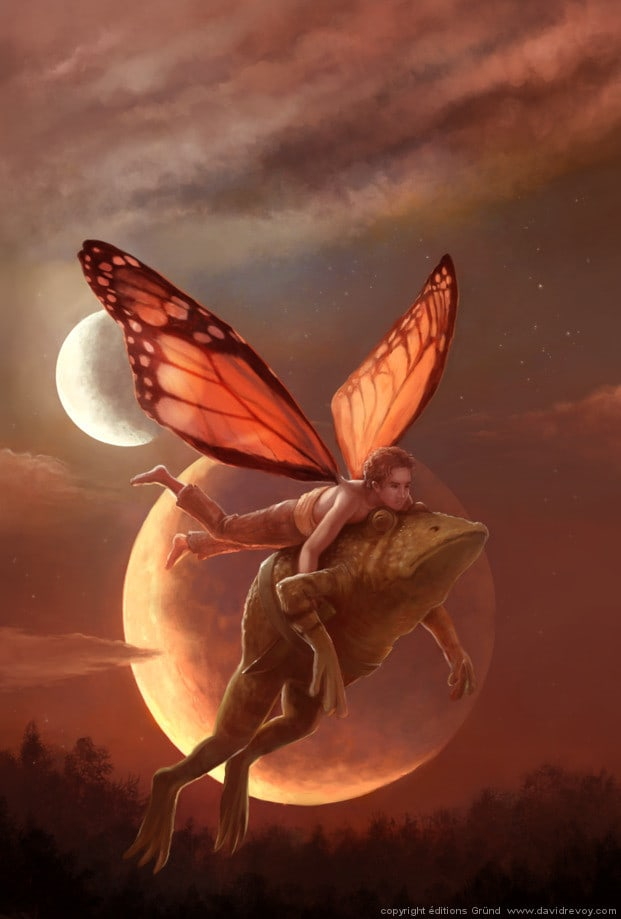 fairy-guy-carrying-toad-full-moon-magic-fantasy-illustration-art-painting-621x919