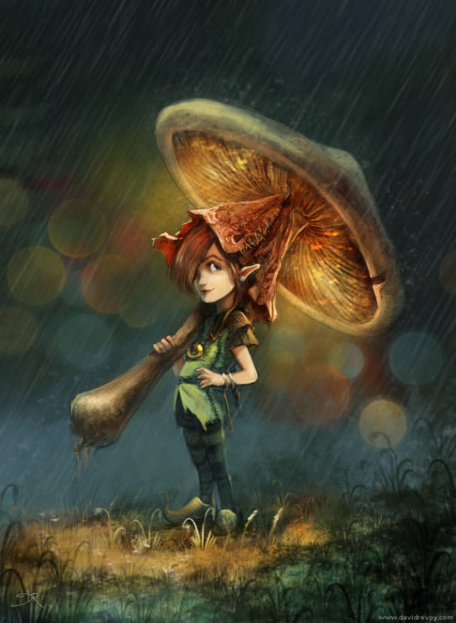 pixie-girl-mushroom-umbrella-cute-fairy-tale-creature-fantasy-illustration-art-picture-643x878