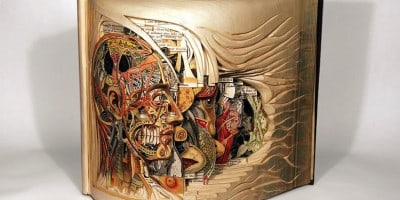 """Book Surgeon"" – Incredible Book Sculptures by Brian Dettmer"