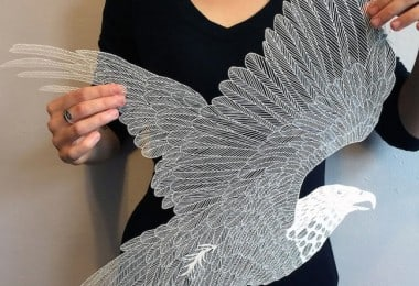 Delicate Hand-Cut Paper Art By Maude White