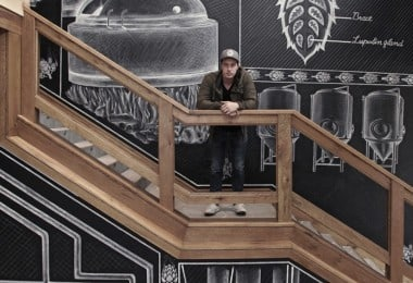 Amazing Chalk Mural At A Beer Brewery by Ben Johnston in Asheville // North Carolina