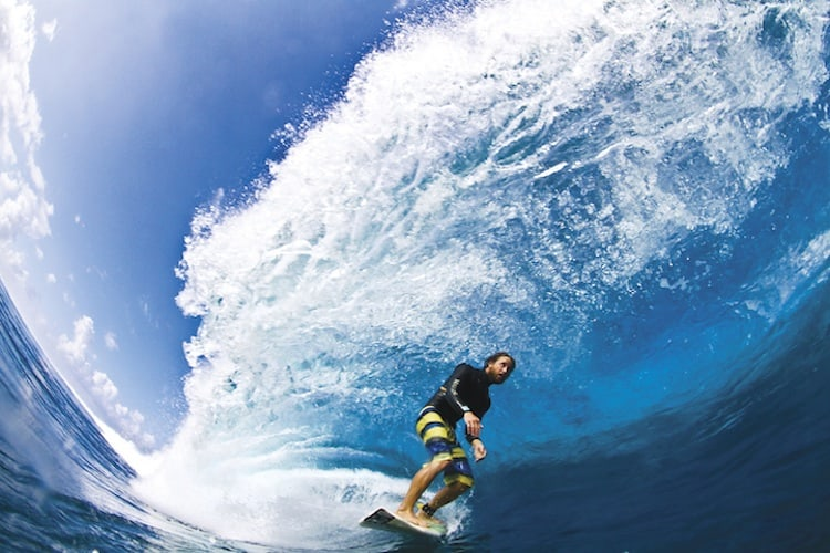 rob brown surfing at teahupoo tahiti july 5 2012