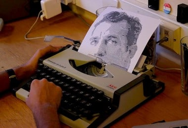 """""""Typewritten Portraits"""" - B&W Portraits Of Famous Literary Authors Created With A Typewriter"""