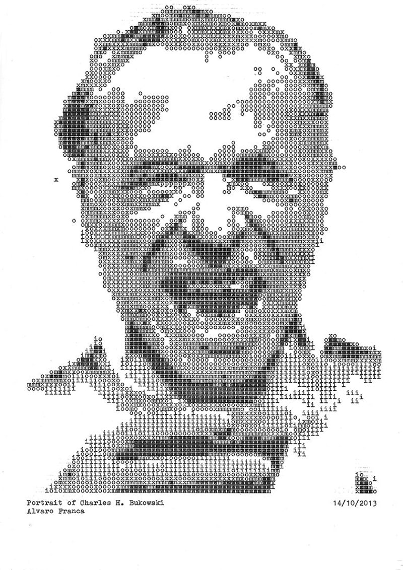 Typewritten_Portraits_BW_Portraits_Of_Literary_Authors_Created_With_A_Typewriter_2014_04
