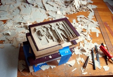 'Book Surgeon' Uses Surgical Tools To Make Incredible Book Sculptures