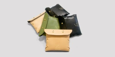 Self Assembly Leather Coins Bag  by Toyish Projects