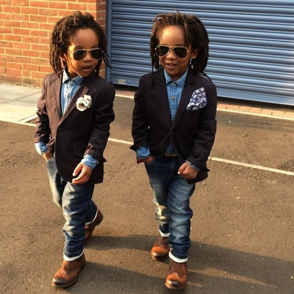 """""""2YungKings"""" – Young Twin Brothers Dressed In Matching Dapper Outfits -"""