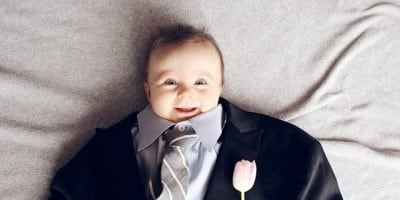 Cutest Trend on Instagram: Funny Baby Dressed in Adult Clothes