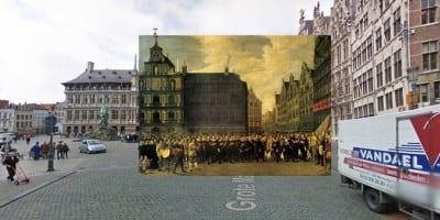 Classic Paintings of World Cities Meet Google Street View