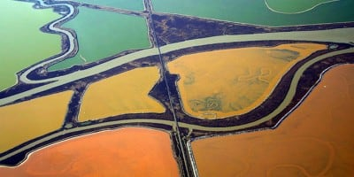 Colourful Aerial Landscapes Of Salt Ponds In San Francisco By Cris Benton
