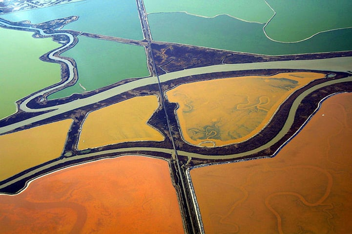 Colourful Aerial Landscapes Of Salt Ponds In San Francisco By Cris Benton -photography, landscapes, aerial