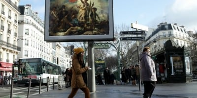 """OMG"" A Street Artist in Paris Steals Ads and Replaces Them With Classical Paintings"