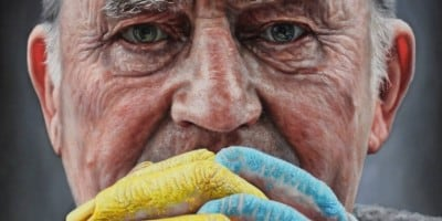 Hyperrealistic Portrait Paintings by Kyle Barnes