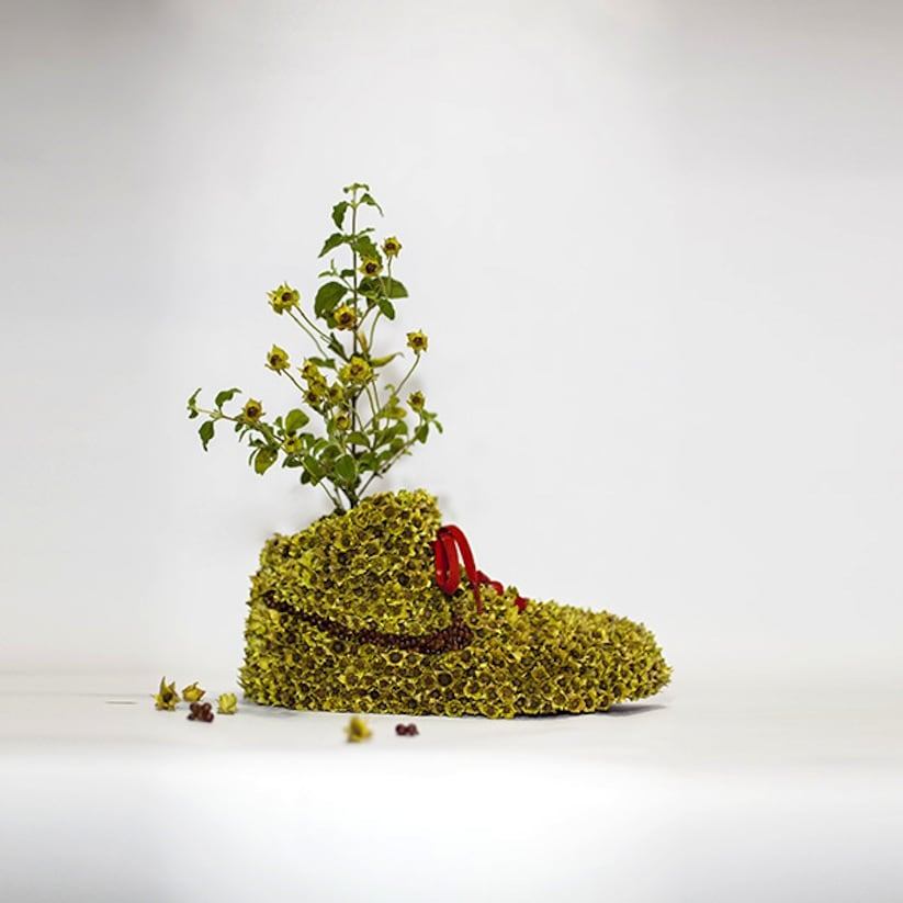 """Just Grow It Les Sneakers Vegetales by French Artist Monsieur Plant 2014 02 - """"Just Grow It ! – Les Sneakers Végétales"""" by French Artist Monsieur Plant"""