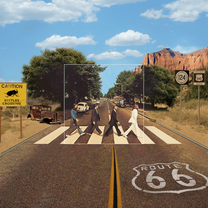 """The Bigger Picture"" Behind Famous Album Covers -music albums, music, covers, celebrities"