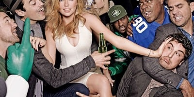 Kate Upton's Super Bowl Party With the Giants and the Jets (Video)