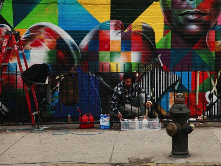 New Colorful Mural of Basquiat and Andy Warhol by Eduardo Kobra in Brooklyn // NYC -new york, mural