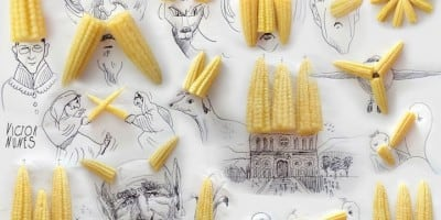 Creative Short Scenes From Everyday Objects and Drawings