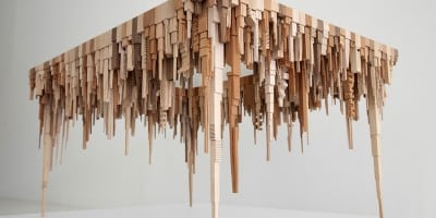'The City Series', Stunning Distorted City Sculptures Crafted From Scrap Wood