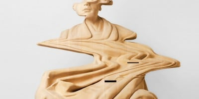 Wooden Sculptures with Glitch Effects by Paul Kaptein